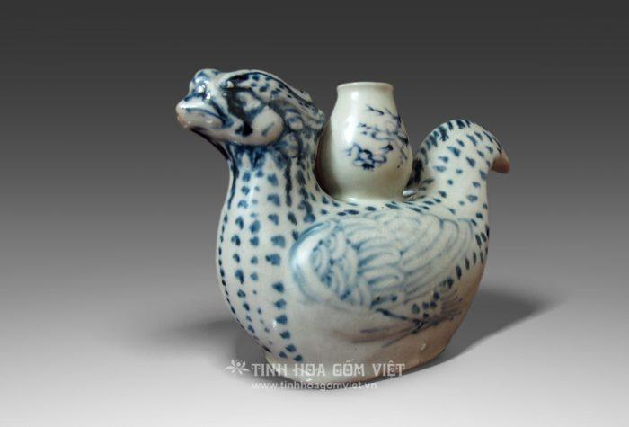 Ấm hình chim phượng gốm Chu Đậu
