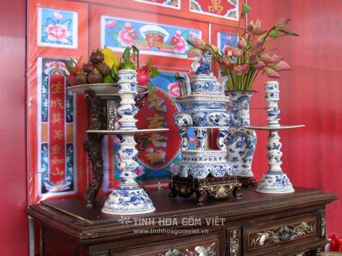 Bộ tam sự gốm Sài Gòn xưa