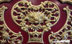 Hình tượng rồng trên Long Sàng của vua Khải Định.